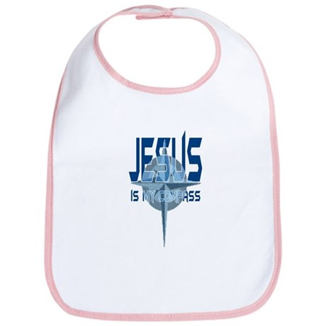 Jesus is My Compass - Blue Bib