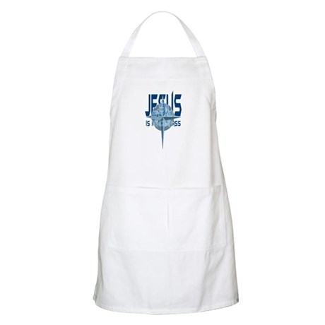 Jesus is My Compass - Blue BBQ Apron
