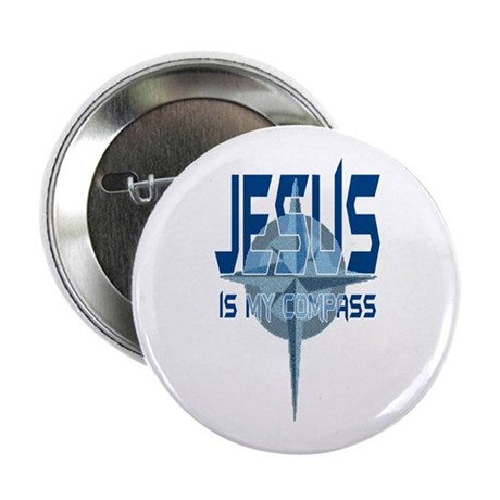 Jesus is My Compass - Blue 2.25&quot; Button (10 pack)