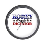 KOREY for dictator Wall Clock