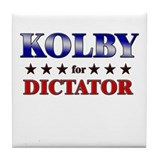 KOLBY for dictator Tile Coaster