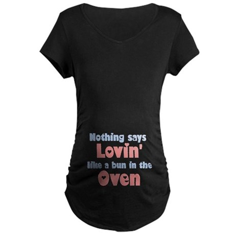 Lovin' Bun in the Oven Maternity Dark T-Shirt
