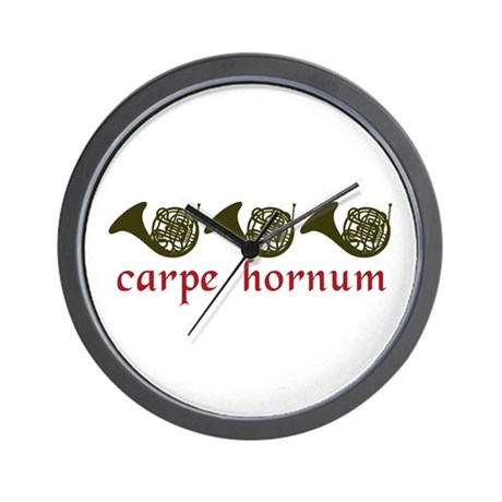 Carpe Hornum Wall Clock