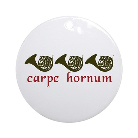 Carpe Hornum Ornament (Round)