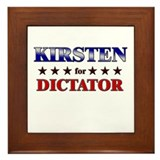 KIRSTEN for dictator Framed Tile