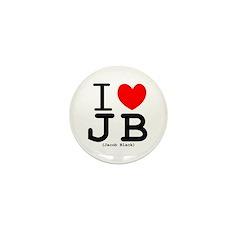 """""""I (heart) Jacob Black"""" Mini Button (10 pack)"""