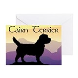 Cairn Terrier Purple Mt. Greeting Card