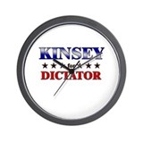 KINSEY for dictator Wall Clock