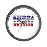 KIERRA for dictator Wall Clock