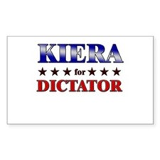 KIERA for dictator Rectangle Decal