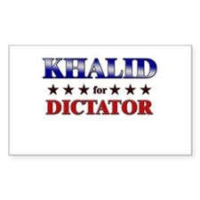 KHALID for dictator Rectangle Decal