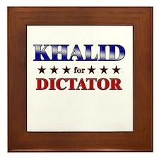 KHALID for dictator Framed Tile