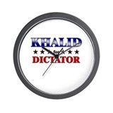 KHALID for dictator Wall Clock