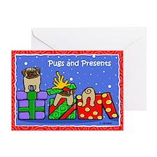 Pugs Love Christmas Presents Greeting Card