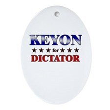 KEYON for dictator Oval Ornament