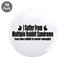 "Multiple Rabbit Syndrome 3.5"" Button (10 pack)"