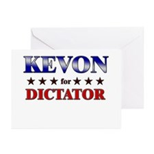KEVON for dictator Greeting Cards (Pk of 20)