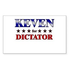 KEVEN for dictator Rectangle Decal