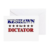 KESHAWN for dictator Greeting Cards (Pk of 20)