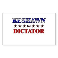 KESHAWN for dictator Rectangle Decal