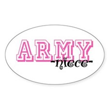 Army Niece - Jersey Style Oval Decal