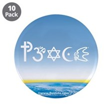 "Peace-OM on earth Day 3.5"" Button (10 pack)"