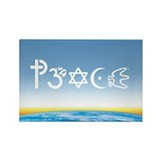 Peace-OM on earth Day Rectangle Magnet (10 pack)