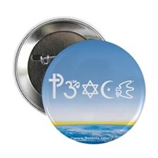 "Peace-OM on earth Day 2.25"" Button (10 pack)"