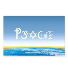 Peace-OM on earth Day Postcards (Package of 8)