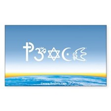 Peace-OM on earth Day Rectangle Decal