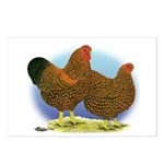 GL Wyandotte Rooster and Hen Postcards (Package of