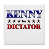KENNY for dictator Tile Coaster