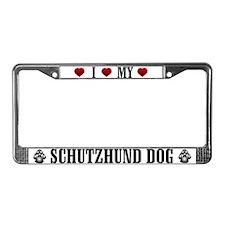 Schutzhund Dog License Plate Frame