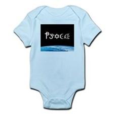 Peace-OM on earth at nite Infant Bodysuit