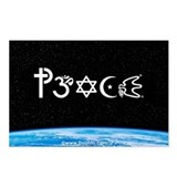 Peace-OM on earth at nite Postcards (Package of 8)