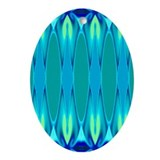 'Cyan Nights' Keepsake Oval Ornament