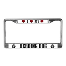 Herding Dog License Plate Frame