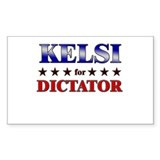 KELSI for dictator Rectangle Decal