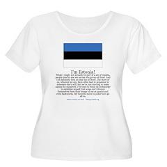 Estonia Women's Plus Size Scoop Neck T-Shirt