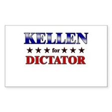 KELLEN for dictator Rectangle Decal