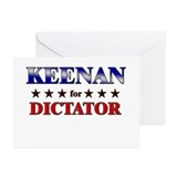 KEENAN for dictator Greeting Cards (Pk of 10)