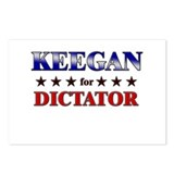 KEEGAN for dictator Postcards (Package of 8)