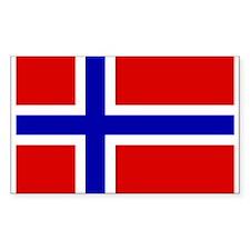 Norwegian Flag Rectangle Decal