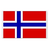 Norwegian Flag Rectangle Stickers