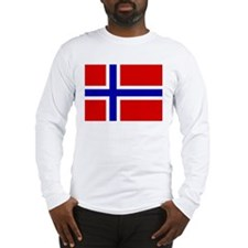 Norwegian Flag Long Sleeve T-Shirt