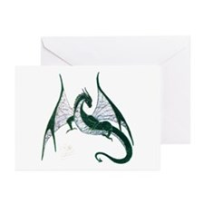 Green Dragon Greeting Cards (Pk of 20)