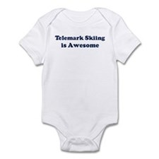 Telemark Skiing is Awesome Infant Bodysuit