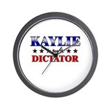 KAYLIE for dictator Wall Clock
