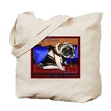 belly dancing pug canvas tote bag