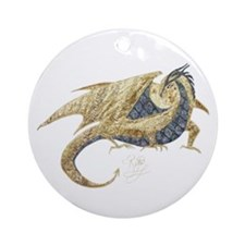 Gold Dragon Ornament (Round)